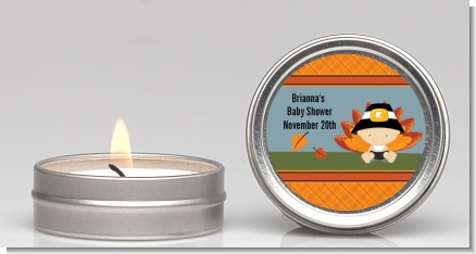 Little Turkey Boy - Baby Shower Candle Favors