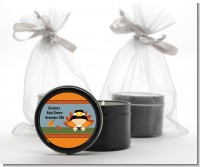 Little Turkey Boy - Baby Shower Black Candle Tin Favors