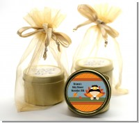 Little Turkey Boy - Baby Shower Gold Tin Candle Favors