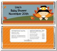 Little Turkey Boy - Personalized Baby Shower Candy Bar Wrappers