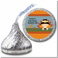 Little Turkey Boy - Hershey Kiss Baby Shower Sticker Labels