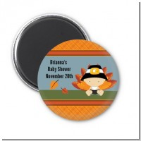 Little Turkey Boy - Personalized Baby Shower Magnet Favors