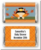Little Turkey Boy - Personalized Baby Shower Mini Candy Bar Wrappers