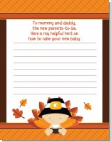 Little Turkey Boy - Baby Shower Notes of Advice