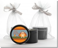 Little Turkey Girl - Baby Shower Black Candle Tin Favors