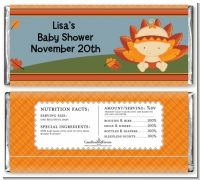 Little Turkey Girl - Personalized Baby Shower Candy Bar Wrappers