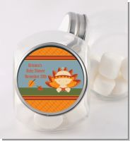 Little Turkey Girl - Personalized Baby Shower Candy Jar