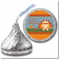 Little Turkey Girl - Hershey Kiss Baby Shower Sticker Labels