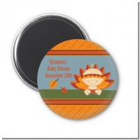 Little Turkey Girl - Personalized Baby Shower Magnet Favors