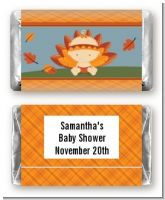 Little Turkey Girl - Personalized Baby Shower Mini Candy Bar Wrappers