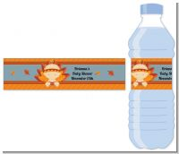 Little Turkey Girl - Personalized Baby Shower Water Bottle Labels