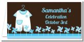 Little Boy Outfit - Personalized Baby Shower Place Cards