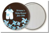 Little Boy Outfit - Personalized Baby Shower Pocket Mirror Favors
