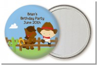 Little Cowboy - Personalized Birthday Party Pocket Mirror Favors