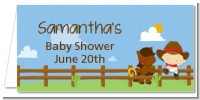 Little Cowboy - Personalized Baby Shower Place Cards