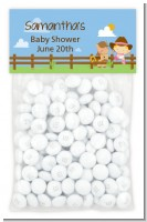Little Cowgirl - Custom Baby Shower Treat Bag Topper