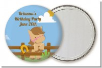 Little Cowgirl Horse - Personalized Birthday Party Pocket Mirror Favors