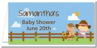 Little Cowgirl - Personalized Baby Shower Place Cards