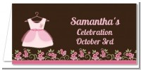 Little Girl Outfit - Personalized Baby Shower Place Cards
