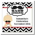Little Man Mustache Black/Grey - Personalized Baby Shower Card Stock Favor Tags thumbnail