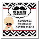 Little Man Mustache Black/Grey - Personalized Baby Shower Card Stock Favor Tags