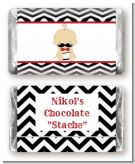 Little Man Mustache Black/Grey - Personalized Baby Shower Mini Candy Bar Wrappers