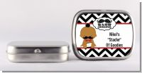 Little Man Mustache Black/Grey - Personalized Baby Shower Mint Tins