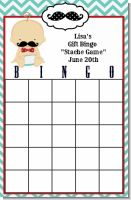 Little Man Mustache - Baby Shower Gift Bingo Game Card