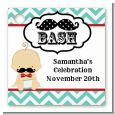 Little Man Mustache - Personalized Baby Shower Card Stock Favor Tags thumbnail