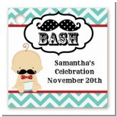 Little Man Mustache - Personalized Baby Shower Card Stock Favor Tags