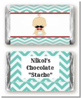 Little Man Mustache - Personalized Baby Shower Mini Candy Bar Wrappers