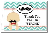Little Man Mustache - Baby Shower Thank You Cards