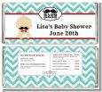 Little Man Mustache - Personalized Baby Shower Candy Bar Wrappers thumbnail