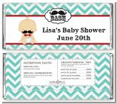 Little Man Mustache - Personalized Baby Shower Candy Bar Wrappers