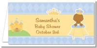 Little Prince African American - Personalized Baby Shower Place Cards