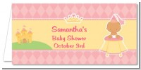 Little Princess African American - Personalized Baby Shower Place Cards
