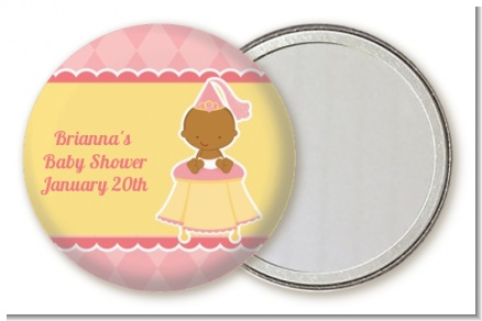 Little Princess African American - Personalized Baby Shower Pocket Mirror Favors