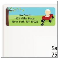 Little Red Wagon - Baby Shower Return Address Labels