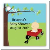 Little Red Wagon - Personalized Baby Shower Card Stock Favor Tags