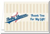 Little Slugger Baseball - Baby Shower Thank You Cards