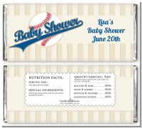 Little Slugger Baseball - Personalized Baby Shower Candy Bar Wrappers