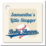 Little Slugger Baseball - Personalized Baby Shower Card Stock Favor Tags