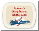 Little Slugger Baseball - Personalized Baby Shower Rounded Corner Stickers
