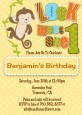 Look Who's Turning One Monkey - Birthday Party Invitations thumbnail