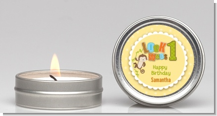 Look Who's Turning One Monkey - Birthday Party Candle Favors