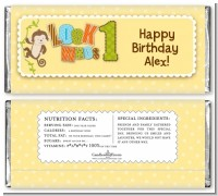 Look Who's Turning One Monkey - Personalized Birthday Party Candy Bar Wrappers