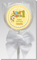 Look Who's Turning One Monkey - Personalized Birthday Party Lollipop Favors