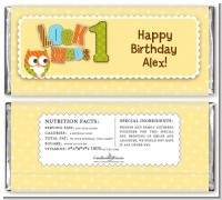 Look Who's Turning One Owl - Personalized Birthday Party Candy Bar Wrappers