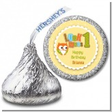 Look Who's Turning One Owl - Hershey Kiss Birthday Party Sticker Labels