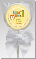 Look Who's Turning One Owl - Personalized Birthday Party Lollipop Favors